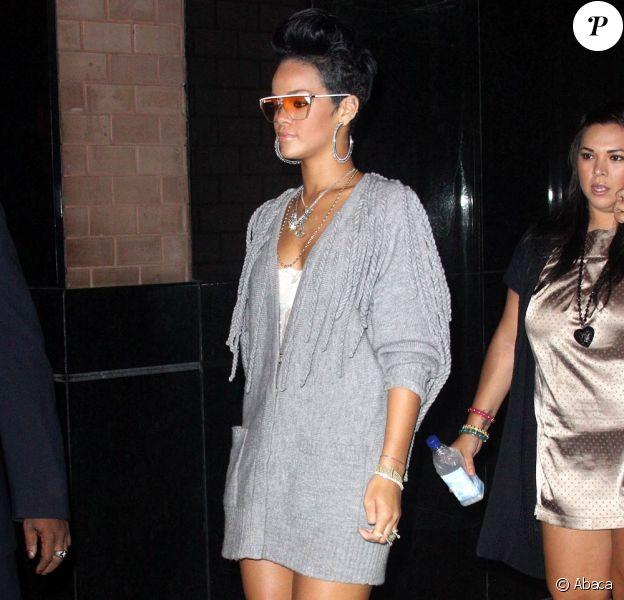 Rihanna lors du concert des Black Eyed Peas, dans la salle The Griffin à New York !