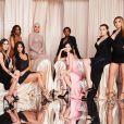De gauche à droite : Sarah Howard, Kim kardashian, Malika Haqq, Khloé Kardashian, Khadijah Haqq, Allie Rizzo, Anna Schafer et Larsa Pippen - Soirée d'anniversaire de Kourtney Kardashian (40 ans) à Beverly Hills. Le 18 avril 2019.