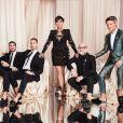 Au centre : Simon Huck, Kris Jenner et Domenico Dolce - Soirée d'anniversaire de Kourtney Kardashian (40 ans) à Beverly Hills. Le 18 avril 2019.