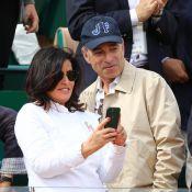 Jean-François Copé et sa femme spectateurs détendus face à la défaite de Nadal