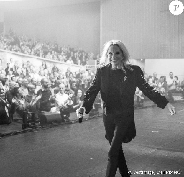 """Exclusif - Véronique Sanson en concert à la Cité des congrès de Nantes pour la seconde date de sa tournée """"Dignes, Dingues, Donc..."""" le 4 avril 2019. © Cyril Moreau/Bestimage"""