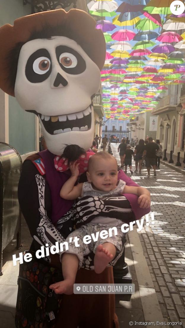 Santiago, le fils d'Eva Longoria et Jose Antonio Baston, en vacances à Porto-Rico. Le 27 avril 2019.