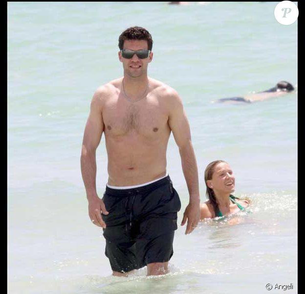 Michael Ballack et sa femme Simone en vacances à Miami