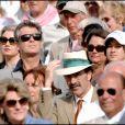 Pierce Brosnan et sa femme Keely à Wimbledon, en 2007