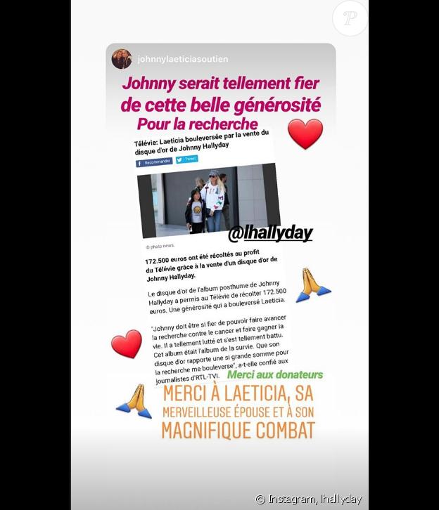 Laeticia Hallyday sur Instagram, le 27 avril 2019.