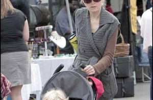 Bridget Fonda et son fils... s'offrent un tour à la ferme en plein centre de Los Angeles !