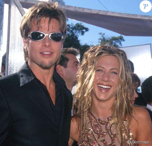 Brad Pitt et Jennifer Aniston, le 13 septembre 1999.