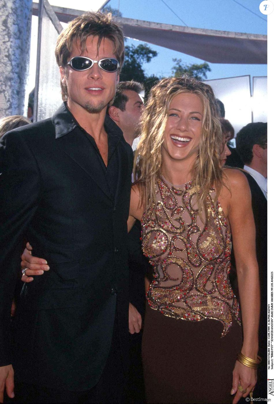 Brad Pitt et Jennifer Aniston, le 13 septembre 1999.