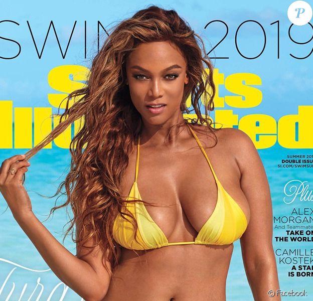 Tyra Banks en couverture du magazine Sports Illustrated Swimsuit 2019.
