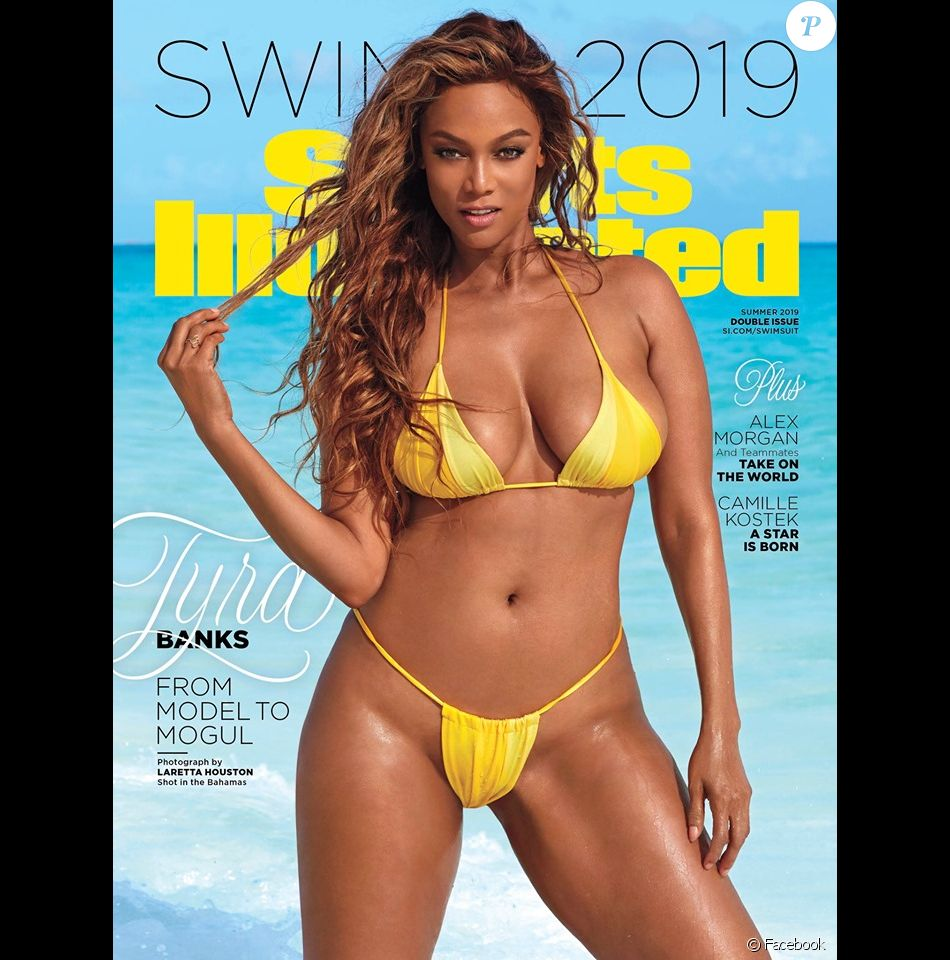 Tyra Banks en couverture du magazine Sports Illustrated Swimsuit 2019.