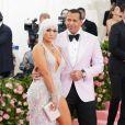 """Jennifer Lopez et son fiancé Alex Rodriguez - Arrivées des people à la 71ème édition du MET Gala (Met Ball, Costume Institute Benefit) sur le thème """"Camp: Notes on Fashion"""" au Metropolitan Museum of Art à New York, le 6 mai 2019."""