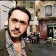 """Emanuele Giorgi sur le tournage de """"Plus belle la vie"""", Instagram, 7 décembre 2018"""