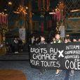 Manifestation intermittents du spectacle lors de la 31ème cérémonie des Molières 2019 aux Folies Bergère à Paris, France, le 13 mai 2019. © Coadic Guirec/Bestimage
