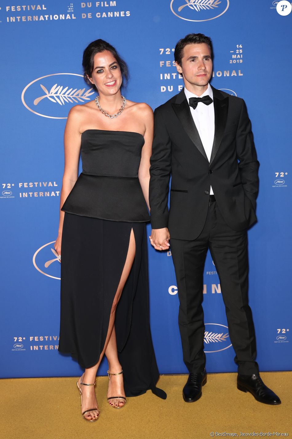 Anouchka Delon et son compagnon Julien Dereims - Photocall du dîner d'ouverture du 72ème Festival International du Film de Cannes, le 14 mai 2019. © Jacovides-Borde-Moreau/Bestimage