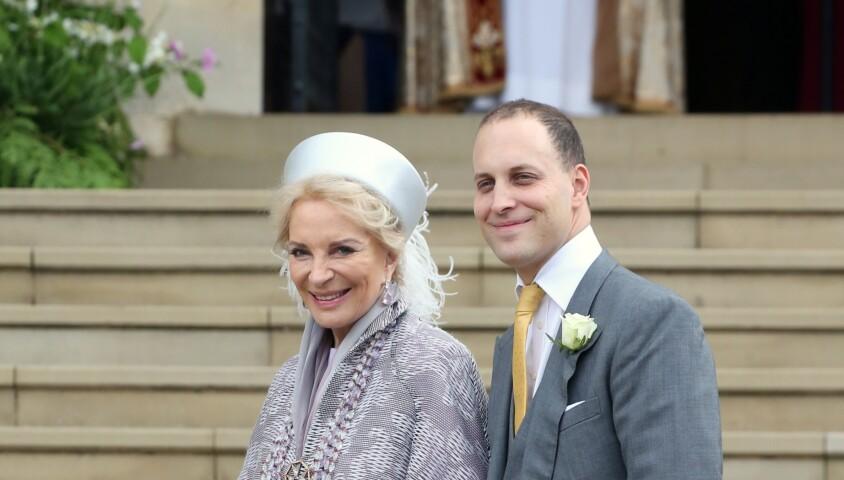 La princesse Michael of Kent et Lord Frederick Windsor - Mariage de Lady Gabriella Windsor avec Thomas Kingston dans la chapelle Saint-Georges du château de Windsor le 18 mai 2019.