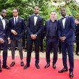 Jonathan Ikoné, Loïc Rémy, Mike Maignan (Losc), Christophe Galtier (entraineur Lille OSC) et Nicolas Pépé (Losc) arrivent à la 28ème cérémonie des trophées UNFP (Union nationale des footballeurs professionnels) au Pavillon d'Armenonville à Paris, France, le 19 mai 2019.
