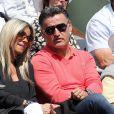 Christophe Galtier et sa femme - People dans les tribunes lors du tournoi de tennis de Roland Garros à Paris le 30 mai 2015.