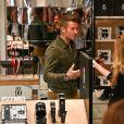 David Beckham fait la promotion de ses produits cosmétiques pour hommes House 99 (soins pour le visage, la barbe, le corps et les cheveux) dans la boutique éphémère le de House 99 aux Galeries Lafayette Champs-Élysées, à Paris, France, le 21 mai 2019.