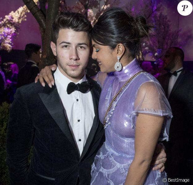 "Priyanka Chopra et son mari Nick Jonas assistent à la soirée ""Chopard Love Night"" lors du 72ème Festival International du Film de Cannes. Le 17 mai 2019 © Olivier Borde / Bestimage"