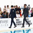 """Charles Leclerc, le pilote de l'écurie Ferrari, lors de la soirée Amber Lounge Monaco 2019 au profit de la fondation de Jackie Stewart """"Race Against Dementia"""" à l'hôtel Méridien Beach Plaza à Monaco, le 24 mai 2019. © Bruno Bebert"""