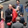 Le prince Albert II de Monaco, la princesse Charlene, Charles Leclerc, Jean Todt - People avant le départ du 77ème Grand Prix de Formule 1 de Monaco le 26 mai 2019. © Bruno Bebert/Bestimage