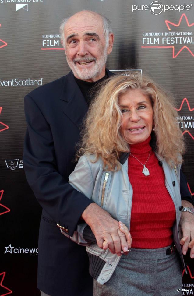 Sean Connery et sa femme Micheline au Festival d'Edimbourg