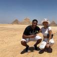 Mélanie Da Cruz et Anthony Martial profitent de vacances en Egypte, en mai 2019.