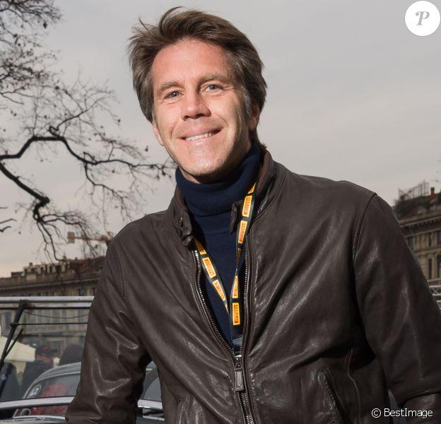 """Le prince Emmanuel-Philibert de Savoie lors de la course """"Coppa Milano Sanremo"""" à Milan, en Italie, le 22 mars 2018."""