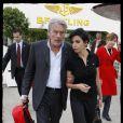 Rachida Dati et Alain Delon au Salon de l'aéronautique. 18/06/09