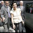 Rachida Dati est à Bruxelles, aux côtés de Michel Barnier afin d'assister à la première réunion avec les députés européens. 17/06/09