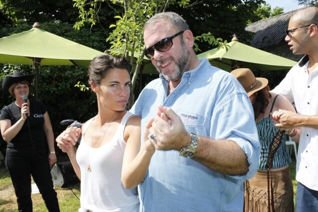 Alessandra Sublet et Emmanuel Maubert - Garden Party chez Babette de Rozières, élue personnalité populaire 2010 et prix Marianne de la poste avec timbre à son effigie. Le 27 juin 2010