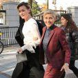 Exclusif - Ellen DeGeneres et sa femme Portia de Rossi dans la rue à Washington le 22 novembre 2016.
