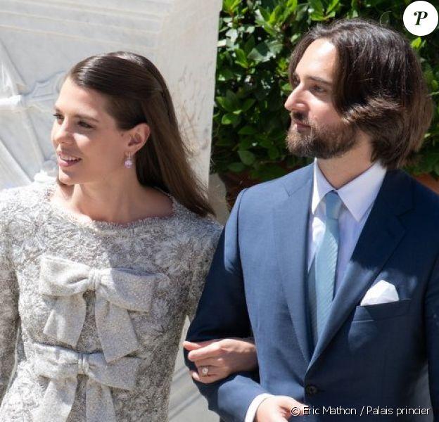 Charlotte Casiraghi et Dimitri Rassam se sont mariés au palais princier de Monaco, le 1er juin 2019.