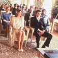 Caroline de Monaco en robe courte pour son mariage avec Stefano Casiraghi à Monaco, le 23 décembre 1983.