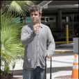 Robbie Williams arrivant à Miami, le 18 juin 2009