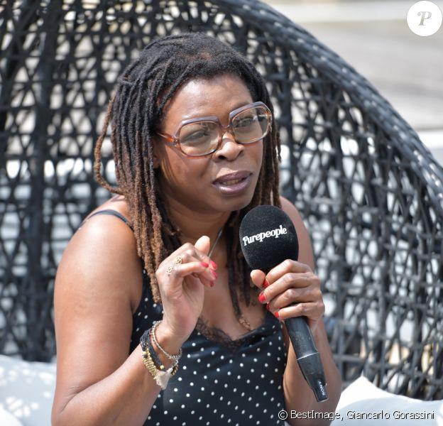 Exclusif - Princess Erika en interview dans les locaux de Purepeople à Levallois-Perret, le 22 mai 2018. © Giancarlo Gorassini/Bestimage