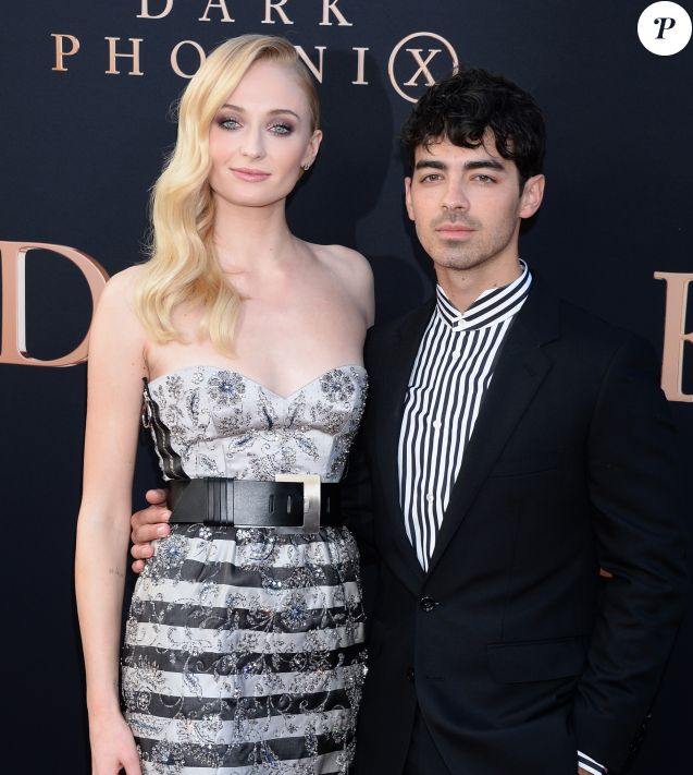 Sophie Turner et son mari Joe Jonas assistent à l'avant-première de X-Men : Dark Phoenix à Los Angeles, le 4 juin 2019.
