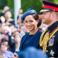 Le prince Harry et Meghan Markle, duchesse de Sussex, lors de la parade Trooping the Colour à Londres, le 8 juin 2019.