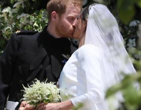 Le prince Harry et Meghan Markle, duchesse de Sussex, le jour de leur mariage à Windsor, le 19 mai 2018.