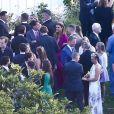 Maria Shriver au mariage de sa fille Katherine Schwarzenegger avec Chris Pratt au Ranch de San Ysidro à Montecito au États-Unis, 8 juin 2019