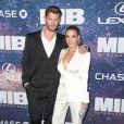 """Chris Hemsworth et sa femme Elsa Pataky à la première mondiale du film """"Men In Black International"""" au cinéma AMC Loews Lincoln Square 13 à New York City, New York, Etats-Unis, le 11 juin 2019."""