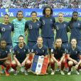 L'équipe de France féminine: Amel Majri, Sarah Bouhaddi, Valérie Gauvin, Wendie Renard, Amandine Henry, Griedge Mbock Bathy, Kadidiatou Diani, Gaëtane Thiney, Eugénie Le Sommer, Marion Torrent et Elise Bussaglia lors de la Coupe du monde féminine de football, Groupe A, France vs Norvège à Nice, France, le 12 juin 2019. La France a gagné 2-1. © Norbert Scanella/Panoramic/Bestimage