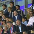 Jean-Michel Aulas (président de l'Olympique Lyonnais) dans les tribunes lors de la Coupe du monde féminine de football, Groupe A, France vs Norvège à Nice, France, le 12 juin 2019. La France a gagné 2-1. © Norbert Scanella/Panoramic/Bestimage