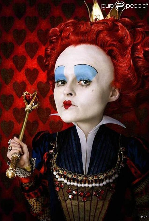 """Helena Bonham Carter dans le rôle de la Reine Rouge, dans le """"Alice ..."""