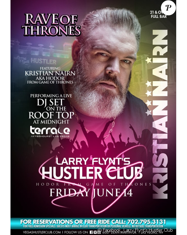Larry Flynt's Hustler Club- juin 2019- Promotion de la soirée Rave of Thrones