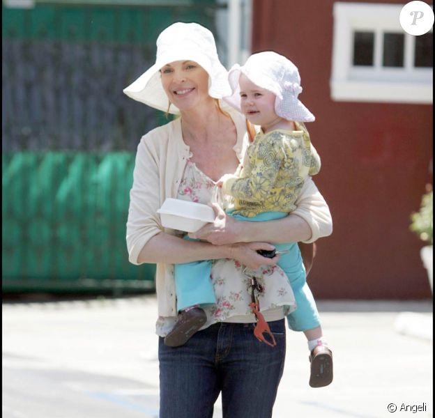Marcia Cross et sa fille Eden pour un déjeuner à Los Angeles, hier