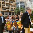 Le prince héréditaire Jacques et la princesse Gabriella de Monaco accompagnaient leur père le prince Albert de Monaco pour fêter le 20e anniversaire de Bob l'éponge, venu avec son ami Patrick l'étoile de mer, à l'occasion du 59e Festival de télévision de Monte-Carlo au Grimaldi Forum à Monaco le 16 juin 2019. © Bruno Bebert / Bestimage
