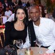 """Exclusif - Eric Abidal et sa femme Hayet assistent à la fête de clôture du 9ème festival """"Marrakech du Rire 2018"""" au Palais Bahia de Marrakech au Maroc le 15 juin 2019. © Rachid Bellak/Bestimage"""