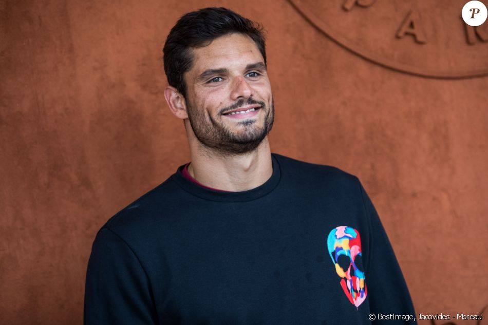 Florent Manaudou au village pour la finale hommes lors des internationaux de France de tennis de Roland Garros 2019 à Paris le 9 juin 2019. © Jacovides - Moreau / Bestimage