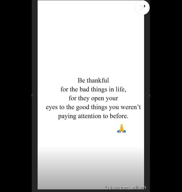 Adil Rami publie un message dans ses stories Instagram, le 28 juin 2019.